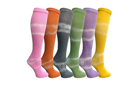 Yacht 6 Pairs Tie Dye Crew Socks, Anti Microbial, Soft Touch - Assorted Tie Dye 0a733412-a507-48bb-bd64-ae0e65344103