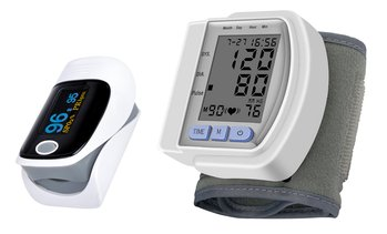 Fingertip Pulse Oximeter and Wrist Blood Pressure Monitor Bundle