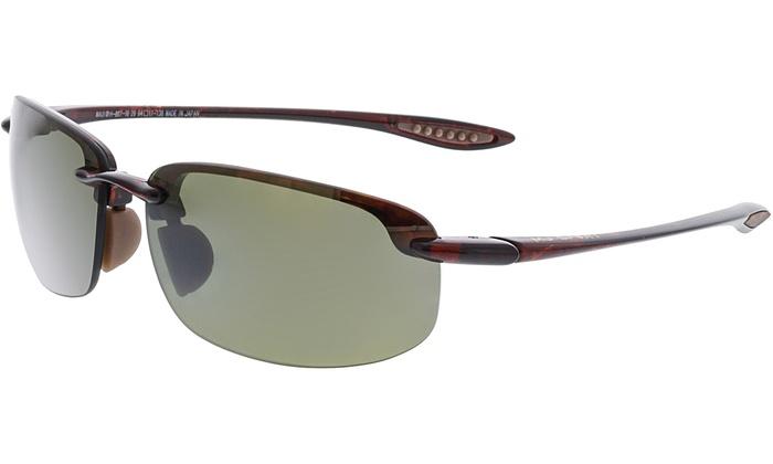 df8ec7e4376 Maui Jim Men's Polarized Ho'Okipa H807-1020 Brown Rimless Sunglasses ...