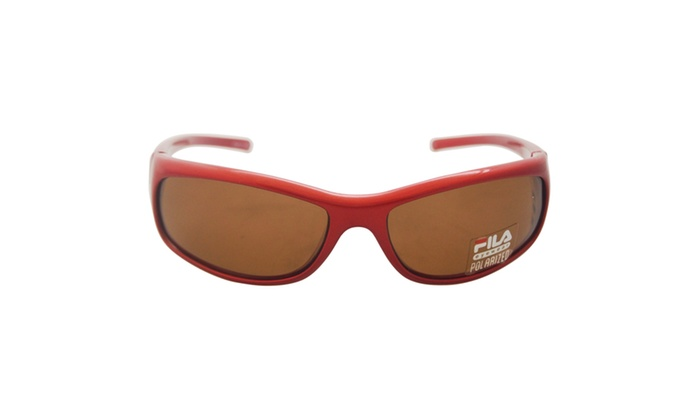 SF 004P C4 - Red Polarized by Fila for Men - 62-16-120 mm Sunglasses