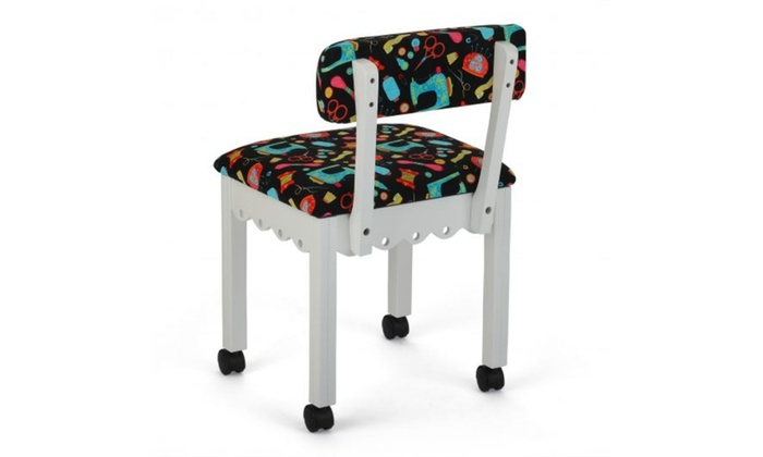 Studio Designs Arrow Sewing Cabinet Craft Room Furniture Wood Fabric Chair Groupon