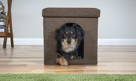 Cat & Small Dog House Footstool Ottoman