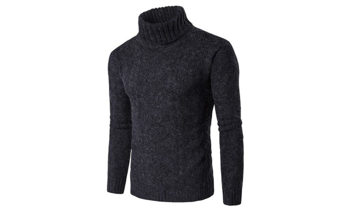 Men's  Solid Casual Pullovers Sweater