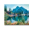 David Lloyd Glover 'Reflections on Gem Lake' Canvas Art