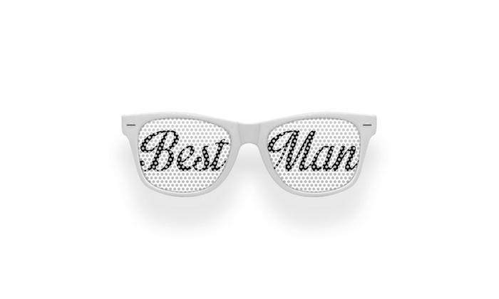 Best Man Retro Party Wedding Sunglasses
