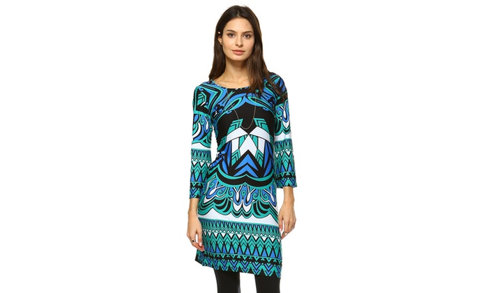 Revolution' Printed Bell Sleeve Dress