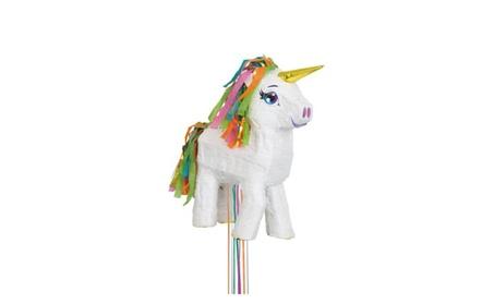White Unicorn Pinata, Pull String c59c99ea-8858-4d0d-abc1-60af25e3318e
