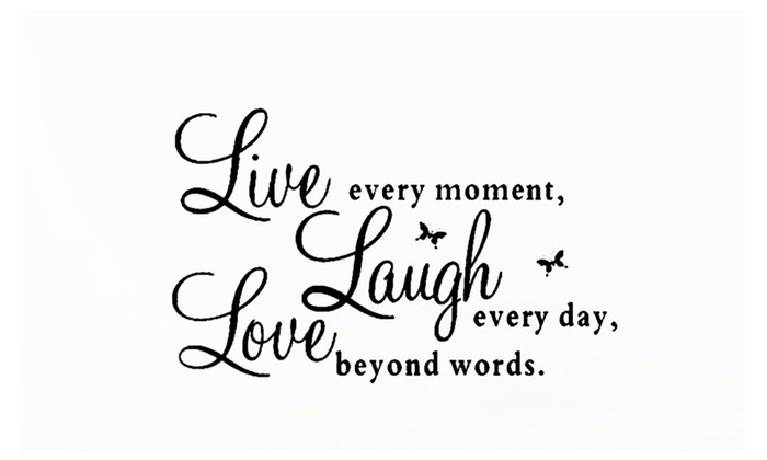 Live Love Laugh Wall Decal Removable Sticker