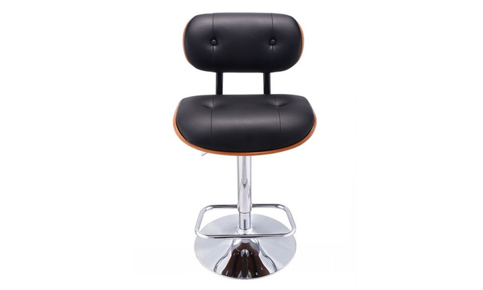 Incredible Adjustable Swivel Bentwood Bar Stool Pu Leather Tufted Pabps2019 Chair Design Images Pabps2019Com