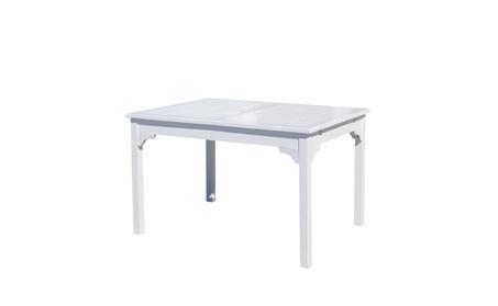 Vifah Bradley Wood Rectangular Outdoor Dining Table d54beec2-ec66-4182-acb6-10253f5f7ad3