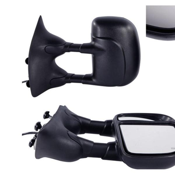 Fits 99-02 Ford F250 F350 F450 F550 Mirror Driver NEW Power Black Telescopic