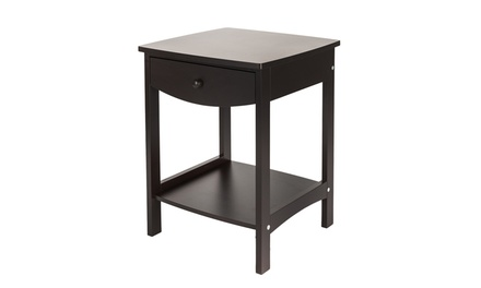 Home Furniture Wood Nightstand End Side 1-Drawer Accent Table Coffee