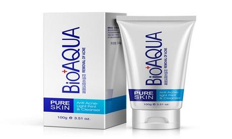 Pure Skin Anti Acne Facial Cream 30g, Cleanser 100g Kit BioAqua