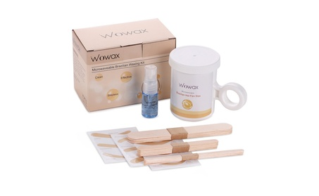 WOWAX Microwave Waxing Kit Brazilian Hot Wax Hair Removal Wax Kit 33216281-fd47-4d10-a430-e23b407e7679