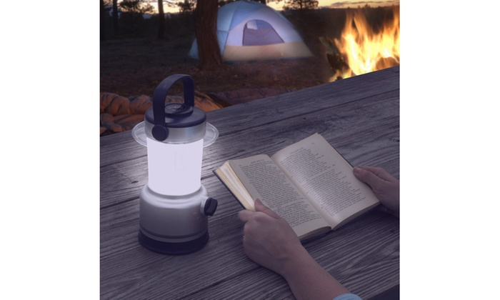 LED Lantern, Outdoor Camping Lantern Flashlight w/ Dimmer and Built-In Compass