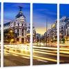 Madrid City Center - Cityscape Photography Metal Wall Art