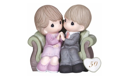 Precious Moments 119931 Figurine 50Th Anniversary Couple On Sofa (Goods For The Home) photo
