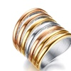 Vintage Big Statement Stainless Steel Ring For Women