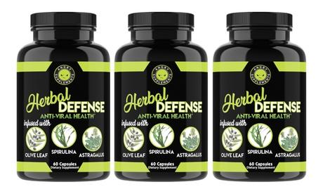 Angry Supplements Herbal Defense Immune Support, Spirulina Olive Leaf