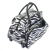 All-Seasons 8136122021T 21 in. Vacation Deluxe Carry-On Rolling Duffel Bag Zebra