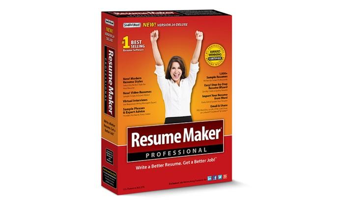 resumemaker professional deluxe 20 - Resume Maker Pro