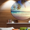 Typical Sunset on Seychelles Beach' Extra Large Seascape Metal Wall Decor