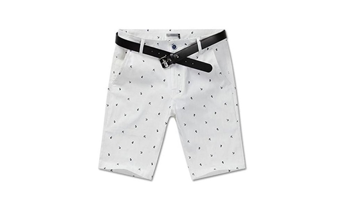 High Quality Slim Fit Casual Anchor Graphic Cotton Shorts
