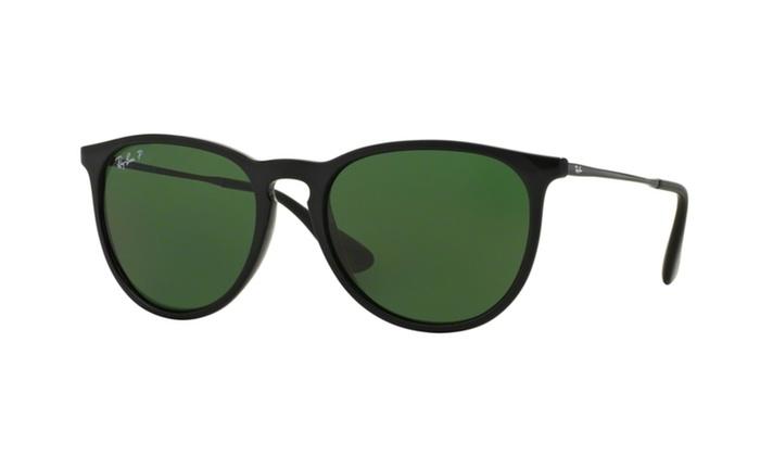 3da125915d Ray-Ban Erika Classic Black Polarized Sunglasses RB4171-601 2P-54 Blue
