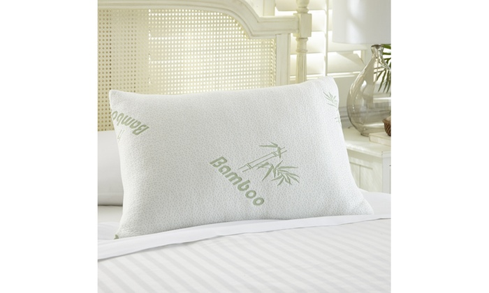 Bamboo Memory Foam Pillows 40or 40Pack Groupon Enchanting Bamboo Covered Memory Foam Pillow