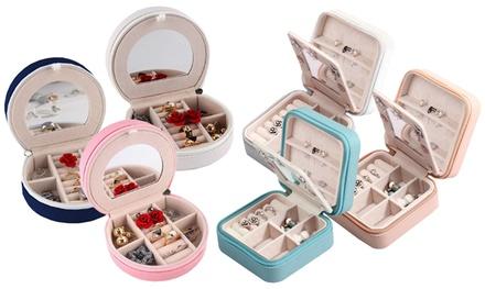 Mini Portable Travel Jewelry Box & Jewelry Organizer