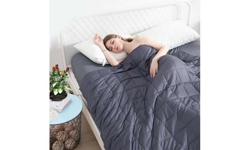 Reduce Stress Promote Deep Sleep Weighted Blanket Full Queen Size High Quality
