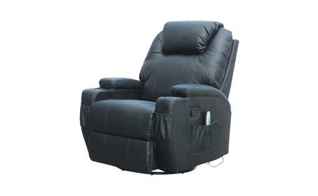 360 Degree Swivel Leather Massage Recliner Heated Rocker Chair a046d90a-edf6-423d-9034-f05fe8dfa2e2