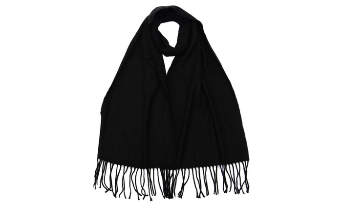 Winter or Fall Cold Weather Solid Color Long Cashmere Feel Scarf