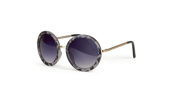 Journee Collection Womens Oversized Round Plastic Sunglasses