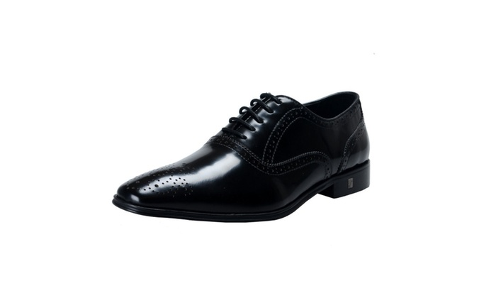 Versace Collection Polished Leather Oxfords Shoes