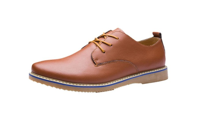 Mens Casual Leather Cowhide Oxford Shoes Flats
