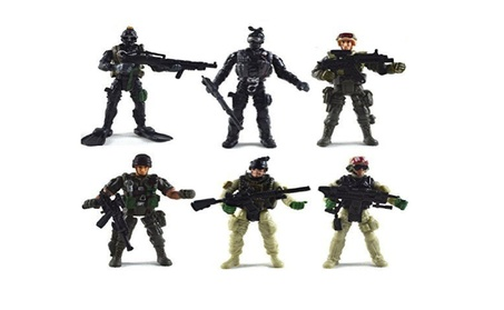 6 Pcs Large Action Figure Army Soldiers Toy with Weapon/Military 372a80ec-f7c3-459a-8403-544f725574cc