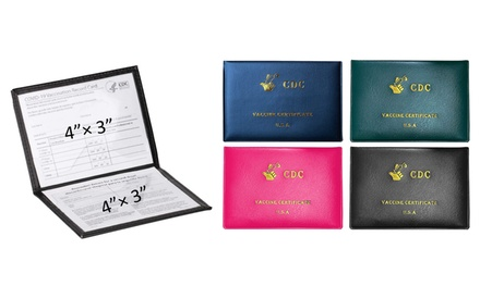 2-Pack: Faux Leather CDC Vaccination Immunization Card Protector Holder Passport Was: $17.99 Now: $5.99.