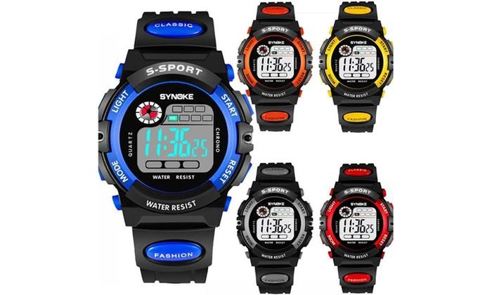 91df0ebe8 Kids Child Boy Girl Waterproof Multifunction Sports Electronic Watches Xmas  Gift