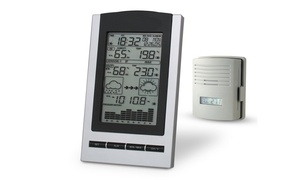 Wireless Indoor and Outdoor Digital Weather Station Clock