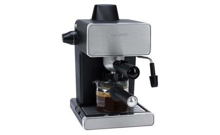 Mr. Coffee Steam Espresso Machine, Stainless Steel/Black Refurbished d895572f-27c3-40e7-8989-1b8f985f6599