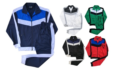 Mens' Jogger Activewear Track Jacket Track pants Tracksuit outfit set