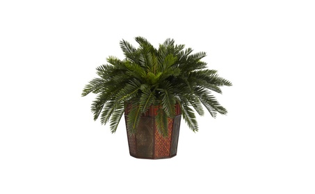 Nearly Natural Artificial Plant Cycas Vase Silk Plant Green a6dd742b-3f8f-434f-8a0a-ca6b2b15bdb2