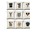 Cute and Adorable Different Dog Breed Printed Throw Pillow Covers