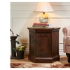 Dodden Vintage Walnut Dual Cabinet End Table