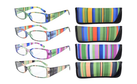 Eyekepper 4-pack striped temples reading glasses R040-Stripe Mix-4pcs aeb2d53a-47fc-4827-88ba-0e0c4cdba78b