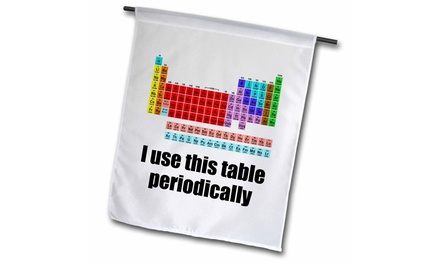 Garden Flag I use this table periodically. - 12 by 18-inches