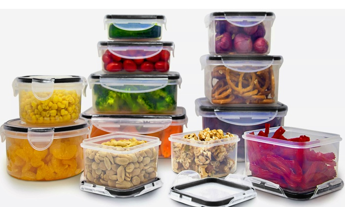 Genial Snap And Lock Food Storage Container Set (12  Or 24 Piece) ...