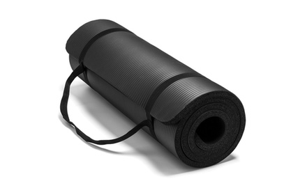 Extra Thick Exercise NBR Yoga Pilates Mat w/ Bag 72