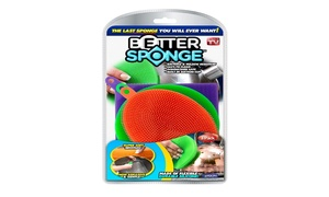 Better Sponge, The As Seen on TV Multi-colored Textured Silicone Sponges, 3 Pack
